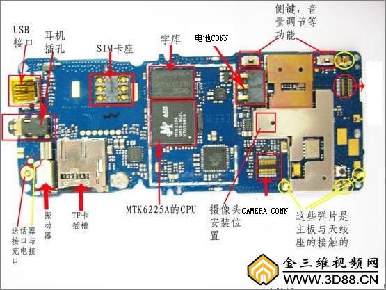 电脑主板平面结构图